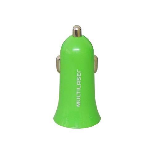 Carregador USB Verde Plug Acendedor de Cigarro CB079 Multilaser