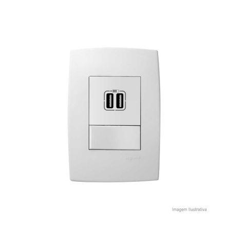 Carregador 2x USB 615089 Branco Pialplus