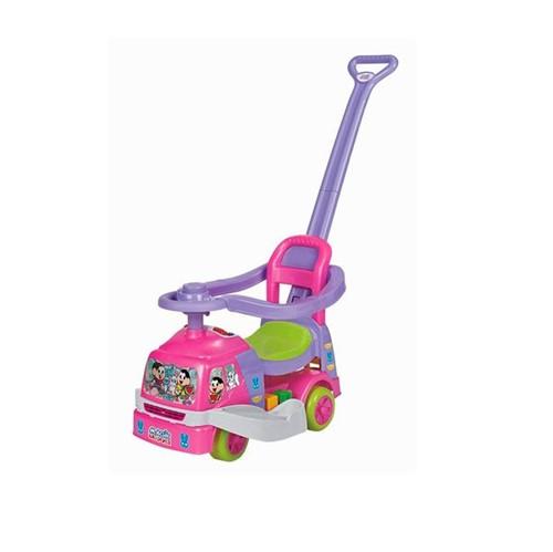 Carrinho Andador para Bebê com Empurrador Mônica Magic Toys