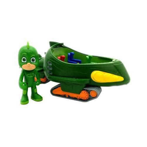 Carrinho com Miniatura Pj Masks - Serie 3 Dtc Modelo:2 - Lagartixomóvel e Lagartixo