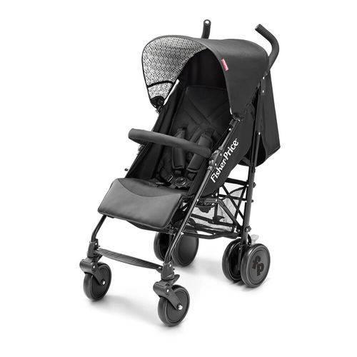 Carrinho de Bebê Até 15Kg Guarda Chuva Essential Fisher Price Preto Multikids Baby - BB550