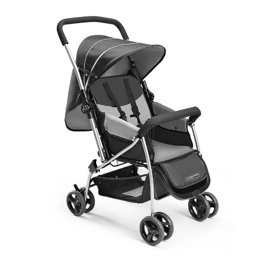Carrinho de Bebê Berço Flip Cinza - Multikids Baby