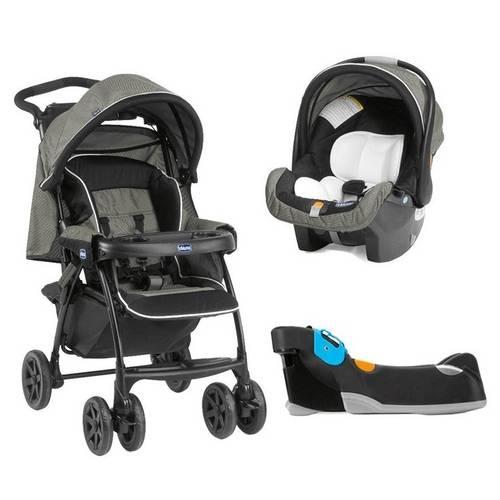 Carrinho de Bebê Chicco e Bebê Conforto Kit Duo Today com Base - Tecna