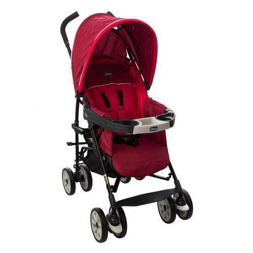 Carrinho de Bebê Neuvo Red Bras 4 Posições com Capa de Chuva Chicco (0 a 15Kg)
