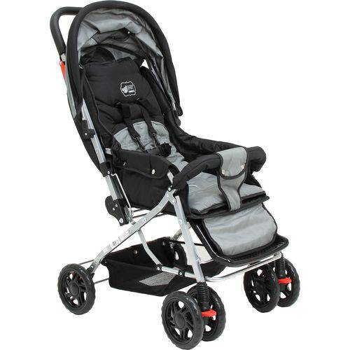 Carrinho de Bebê Paris Preto - Basic+ Baby
