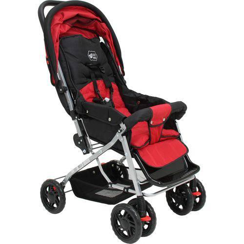 Carrinho de Bebê Paris Vermelho - Basic+ Baby