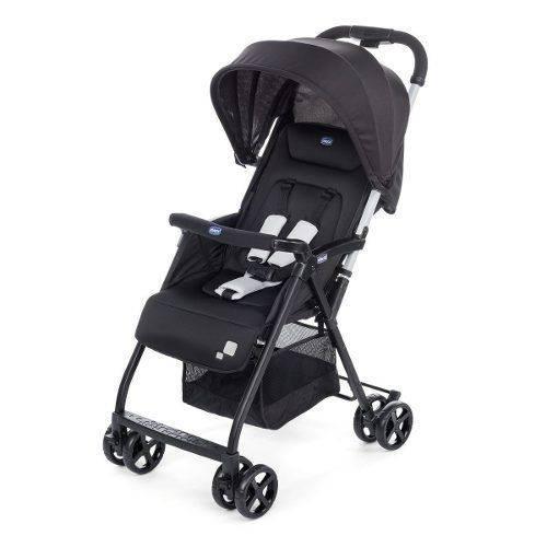 Carrinho de Bebê Travel Compacto Leve Chicco Ohlala Preto