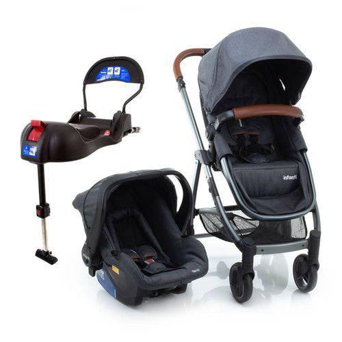 Carrinho de Bebê Travel System Epic Lite Duo Grey Vintage