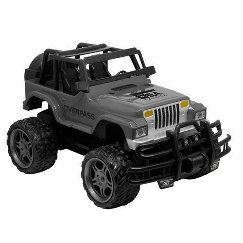 Carrinho de Controle Remoto - Garagem S.a - Jeep Overpass - Cinza - Candide