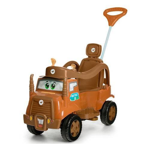 Carrinho de Passeio MK Truck com Pedal e Alça - Marrom - Calesita