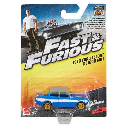 Carrinho Die Cast - Hot Wheels - Velozes e Furiosos - 1970 Ford Escort Rs 1600 Mk1 - Mattel