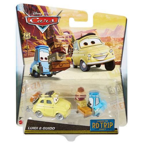 Carrinho - Disney Carros - Viagem de Estrada - Luigi e Guido - Mattel