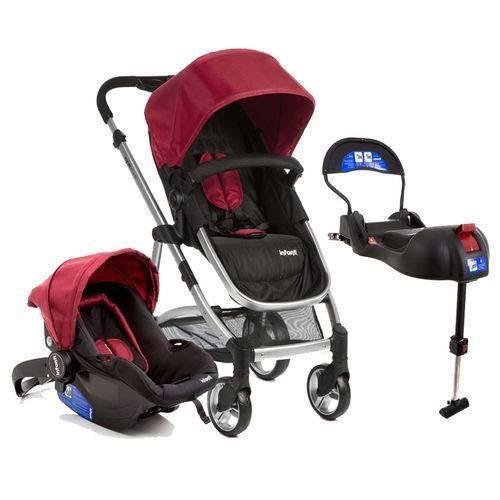 Carrinho Epic com Bebê Conforto e Base para Auto Cherry Infanti