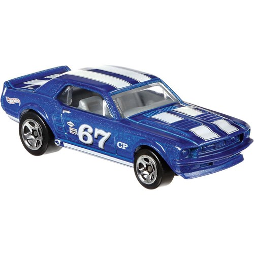 Carrinho Hot Wheels Mustang Racing - 67 Ford Mustang Coupe - Azul MATTEL
