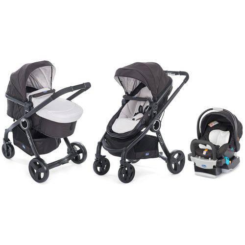 Carrinho Urban Plus + Bebê Conforto Key Fit Chicco Bege