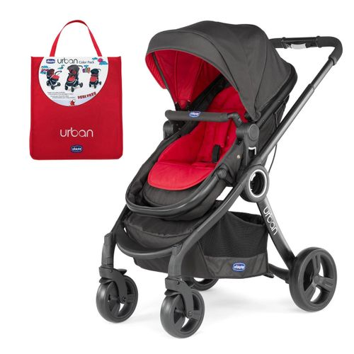 Carrinho Urban Plus + Color Pack Urban Red Wave - Chicco