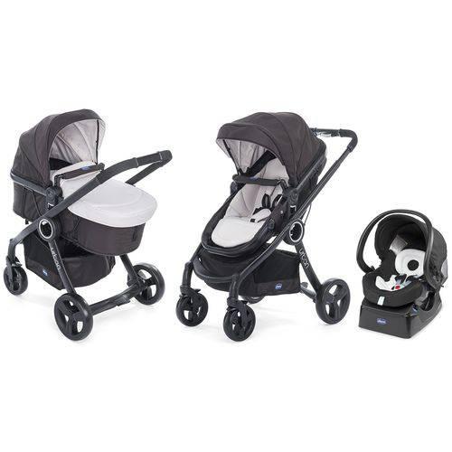 Carrinho Urban Plus Sandshell + Bebê Conforto Fix Fast Chicco