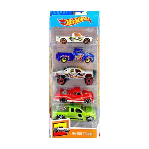 Carrinhos Hot Wheels - Pacote com 5 Carros - Hot Trucks - Mattel