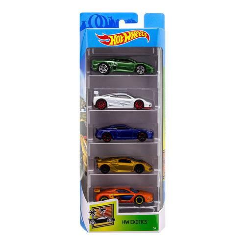 Carrinhos Hot Wheels - Pacote com 5 Carros - Mattel - Hw Exotics Fkt62