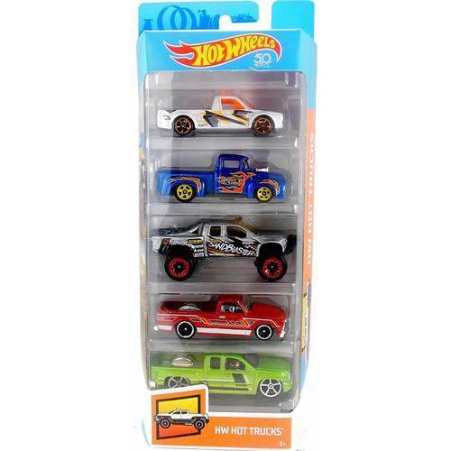Carrinhos Hot Wheels - Pacote com 5 Carros - Mattel - Hw Hot Trucks