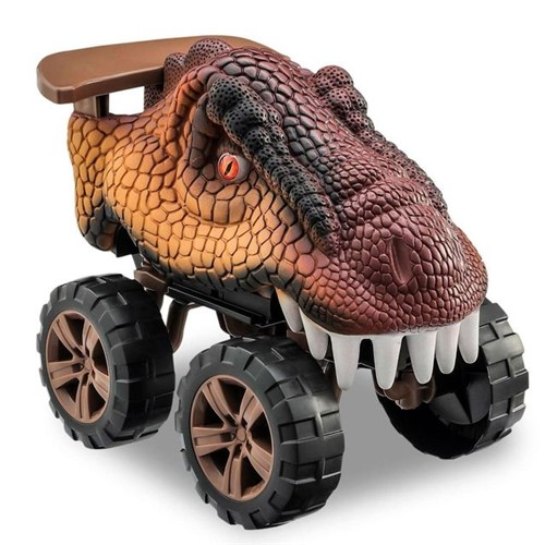 Carro Animals Off Road Dinossauro T-Rex Usual Plastic Marrom