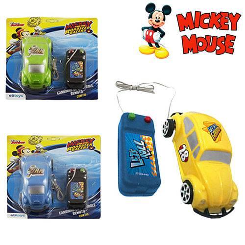 Carro com Controle Remoto com Fio a Pilha Mickey