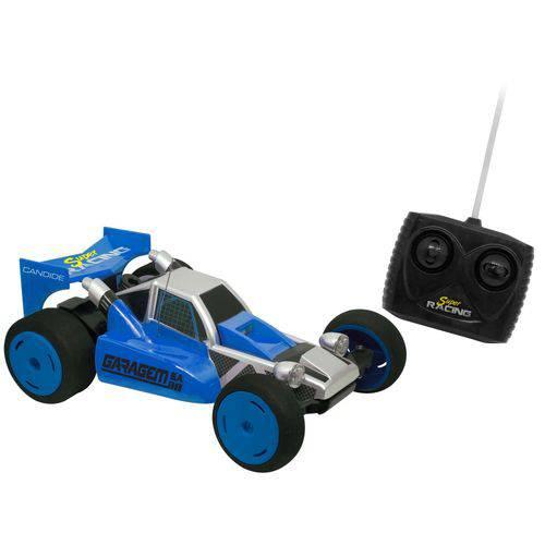 Carro Controle Remoto 7 Funções Bateria Recarregável Super Racing - Candide