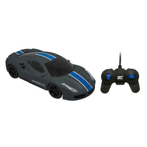 Carro Controle Remoto 7 Funções Carros Azul - Candide