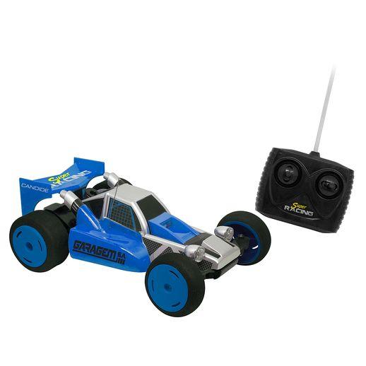 Carro Controle Remoto 7 Funções Mate Carros Azul - Candide