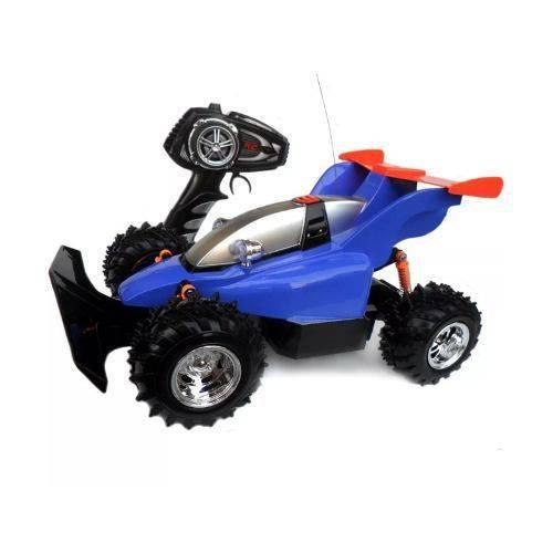 Carro Controle Remoto Fighter Azul 7 Funções - Candide