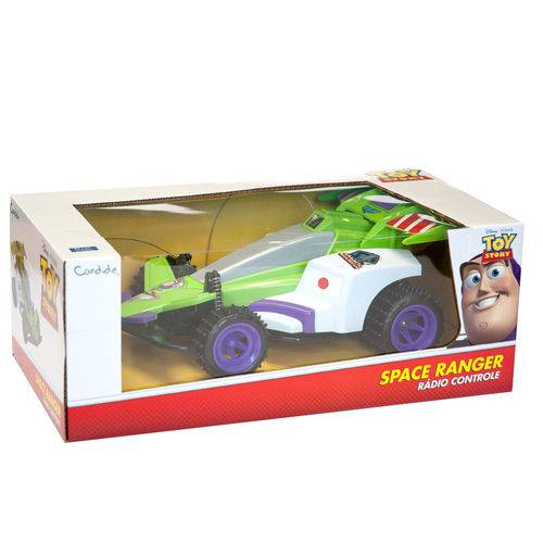 Carro Controle Remoto 3 Funcoes Space Ranger Toy Story Candide