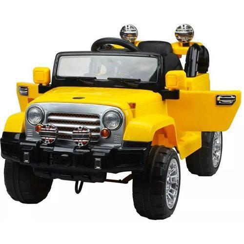 Carro Elétrico Infantil Jipe Trilha Amarelo com Controle Remoto - 12v - Belfix