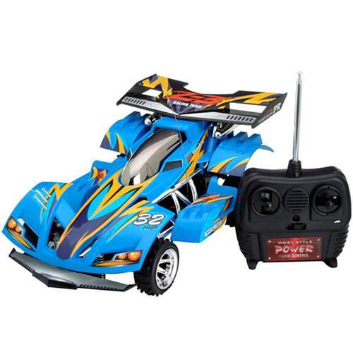 Carro Extreme C/ Rádio Controle 7 Funções 1:22 Azul - Candide