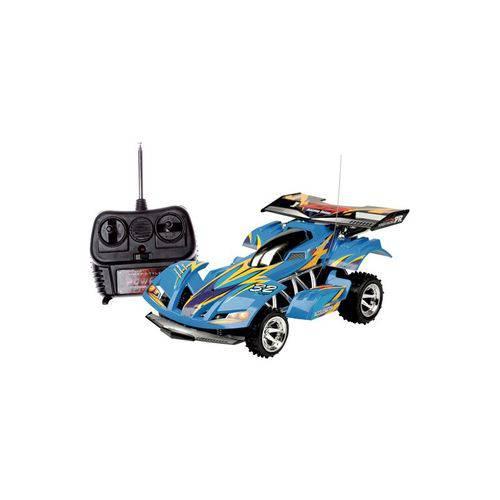 Carro Extreme Rádio Controle Azul - 7 Funções 1:12 - Candide