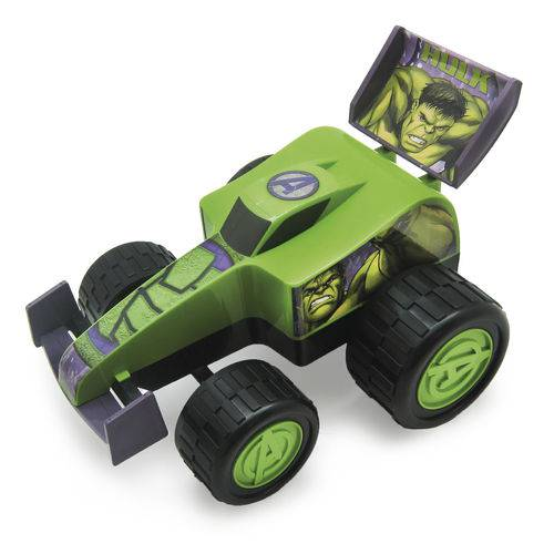 Carro Roda Livre 28cm Formula Monster Hulk - Marvel