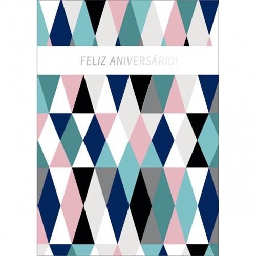 Cartão By Grafon's Aniversário Estampa Losangos