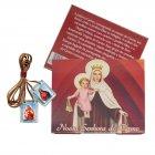 Cartão com Escapulário de Nossa Senhora Carmo   SJO Artigos Religiosos