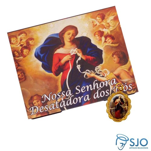 Cartão com Medalha de Nossa Senhora Desatadora dos Nós | SJO Artigos Religiosos