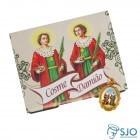 Cartão com Medalha de São Cosme e Damião   SJO Artigos Religiosos
