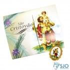 Cartão com Medalha de São Cristóvão | SJO Artigos Religiosos