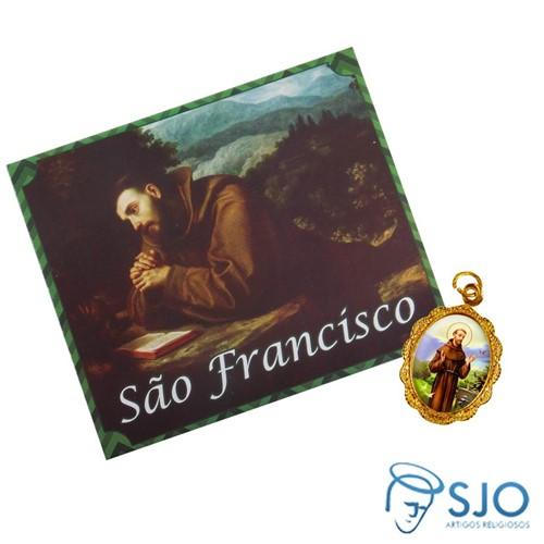 Cartão com Medalha de São Francisco de Assis | SJO Artigos Religiosos