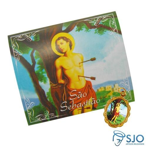 Cartão com Medalha de São Sebastião | SJO Artigos Religiosos
