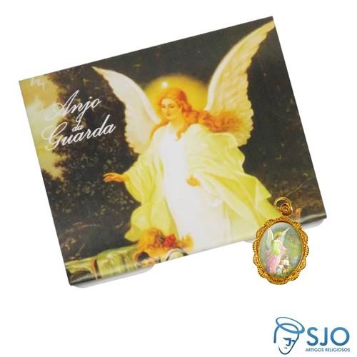 Cartão com Medalha do Anjo da Guarda | SJO Artigos Religiosos