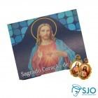 Cartão com Medalha do Sagrado Coração de Jesus   SJO Artigos Religiosos
