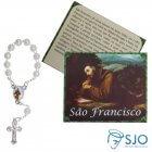 Cartão com Mini Terço de São Francisco de Assis | SJO Artigos Religiosos