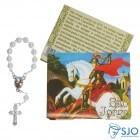 Cartão com Mini Terço de São Jorge | SJO Artigos Religiosos