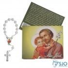 Cartão com Mini Terço de São José | SJO Artigos Religiosos
