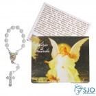Cartão com Mini Terço do Anjo da Guarda | SJO Artigos Religiosos