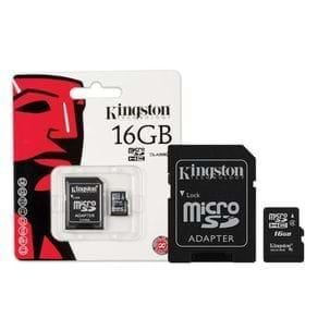 Cartão de Memória 16GB Kingston Micro com Adaptador SD SDC4/16GB