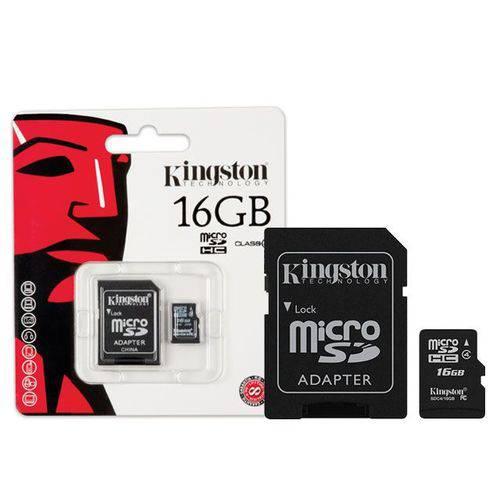 Cartão de Memória 16gb Micro Sd Kingston